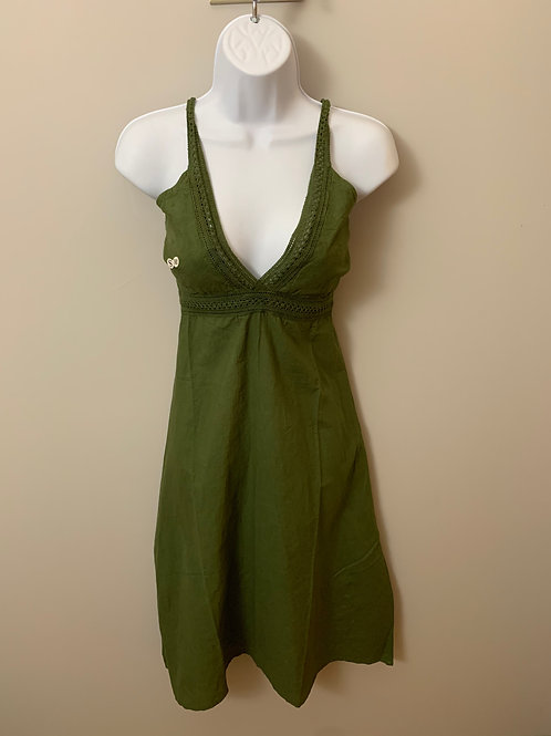 Green Midi Cotton Dress