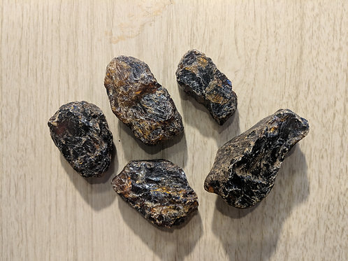 Rough Black Amber Rocks