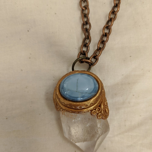 Quartz + Blue Opal Necklace