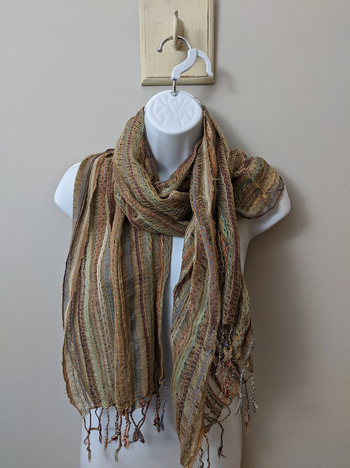 Loosely Woven Thin Cotton Scarf
