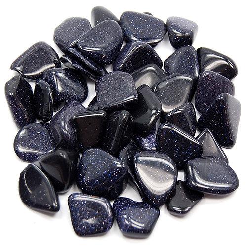 Tumbled Blue Goldstone Gemstone