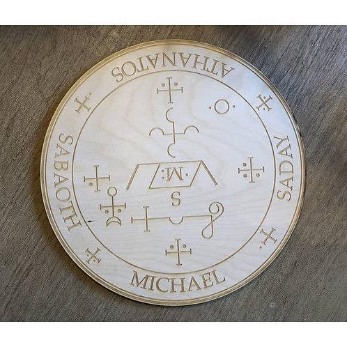 Archangel Michael Crystal Grid - 4 inches