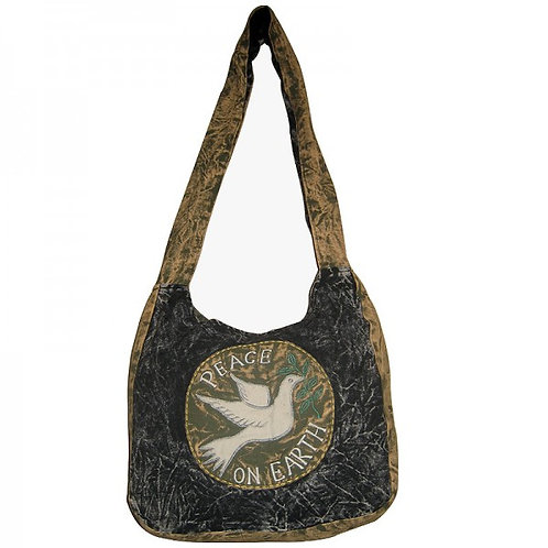 Erwina Peace on Earth Cotton Stone Washed Bag