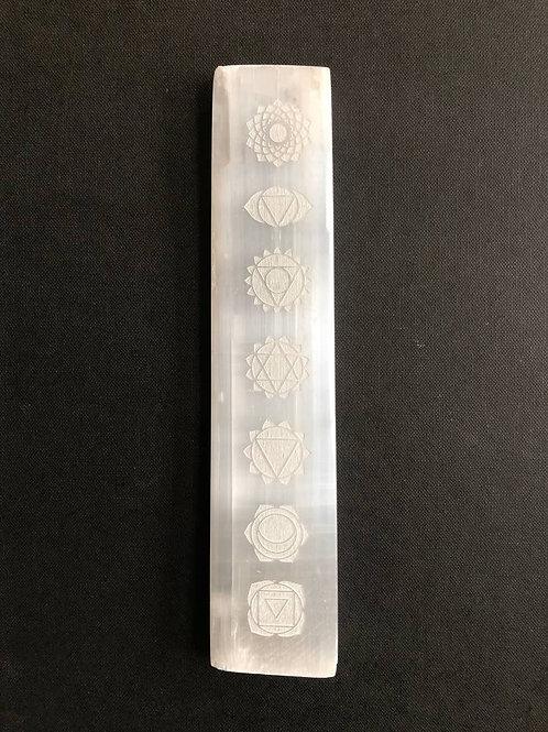 Selenite Engraved Chakra Crystal Grid