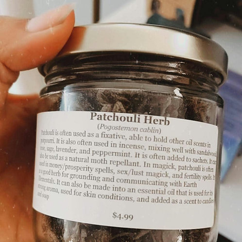 Patchouli Herb 8 oz jar