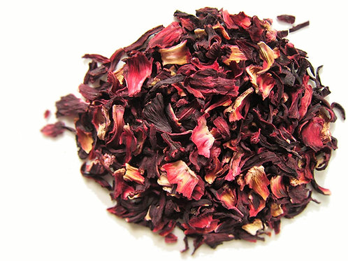 Hibiscus Flowers - Dried - 8 oz jar