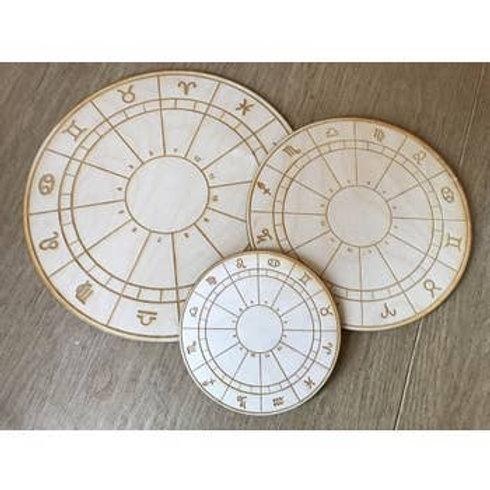 Zodiac Wheel Crystal Grid - 4 inches