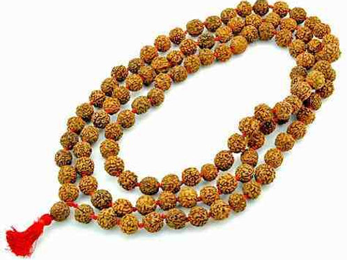 Handmade Rudraksha Mala Bead Necklace