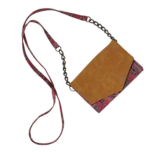 Vegan Leather Chain Purse