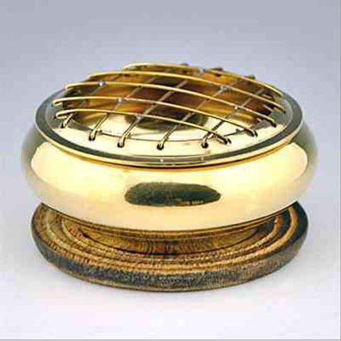 "Brass Screen Charcoal Burner - 3""D"