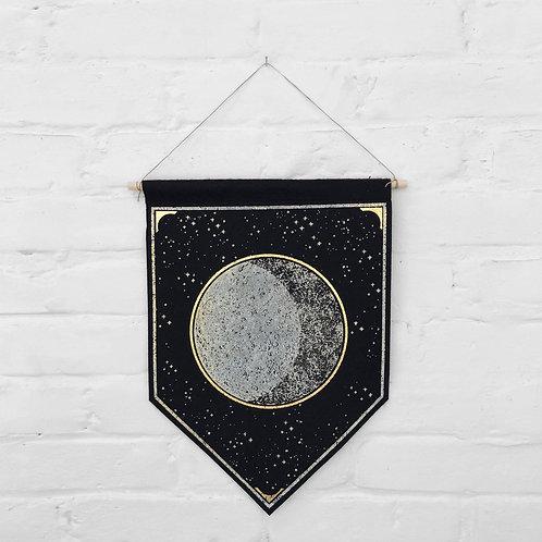 Moon Wool Felt Banner