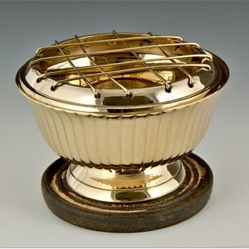 """Brass Screen Charcoal Burner - 3.5""""D, 2.5""""H"""
