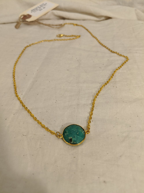 Emerald Dainty Necklace