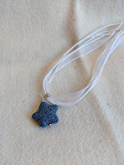Star Blue Lava Rock Essential Oil Necklace