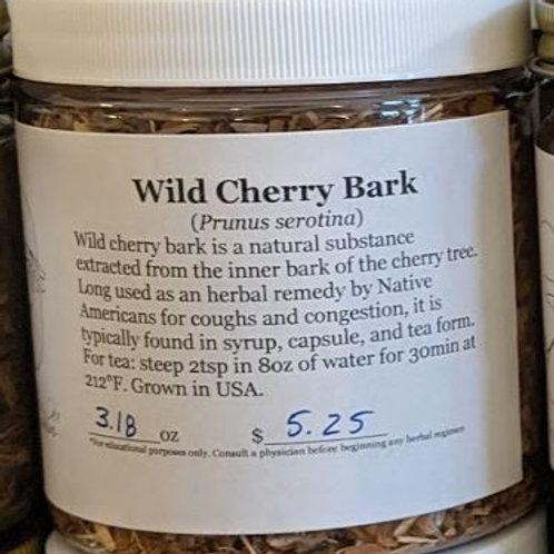 Wild Cherry Bark 8 oz jar