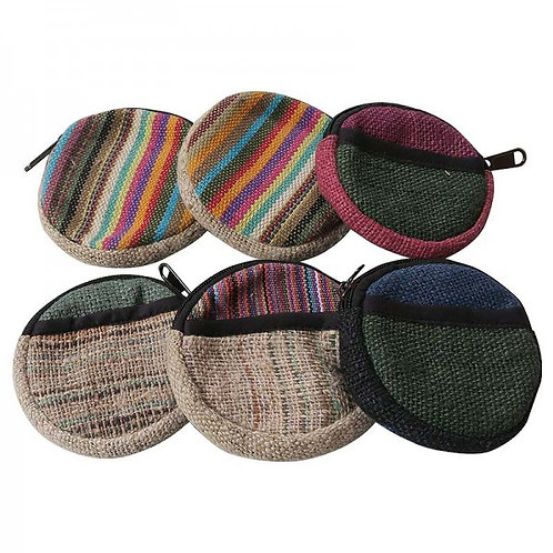 Mixed round coin purse