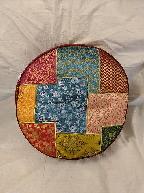 Patterned Quilted Meditation Cushion