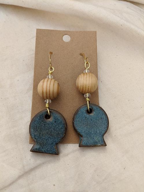 Clay + Wood Handmade Earrings
