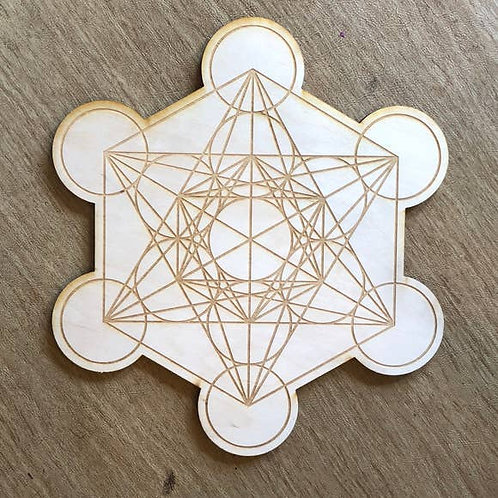 Metatron's Cube Crystal Grid - 4 inches diameter