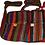 """Thumbnail: Striped Wool Purse Tote Bag School Pouch Hand Woven 10""""x12"""" Fair Trade Peru"""