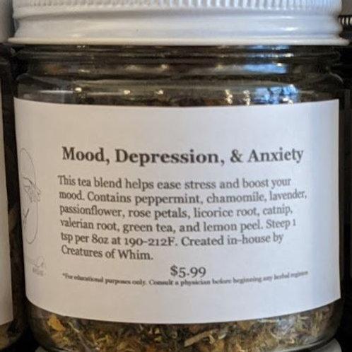 Mood, Depression & Anxiety Tea Blend 8oz