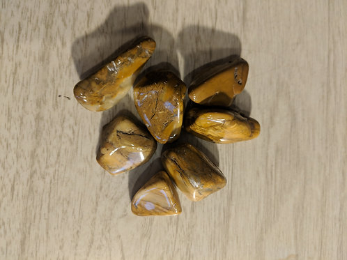 Tumbled Yellow Jasper Gemstones