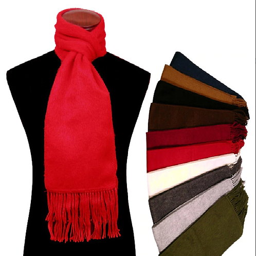 Alpaca 100% Brushed Scarf Solid Color Assortment