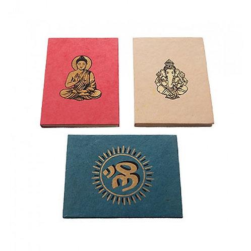 Buddha, Ganesha OM notebook / journal