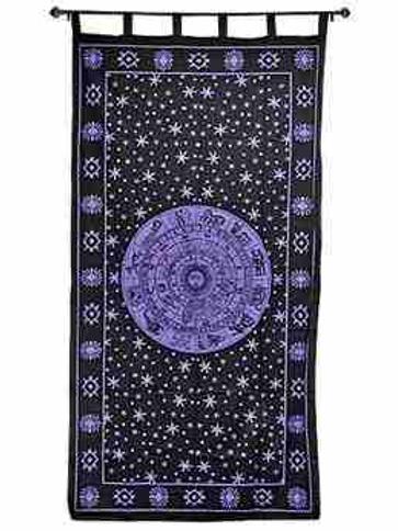 "Zodiac Curtain (Purple) - 44""x88"""