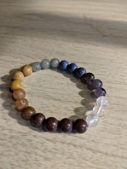 7 Chakra Beaded Stretch Bracelet