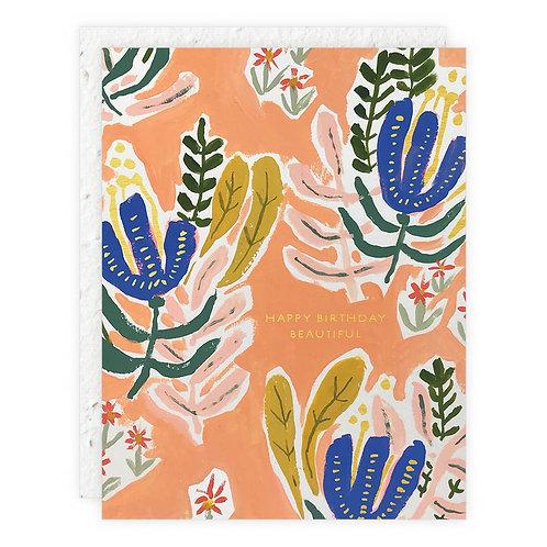 Happy Birthday Beautiful - Seedlings Card