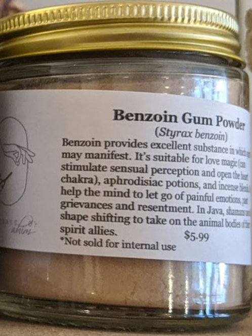 Benzoin Gum Powder 4oz