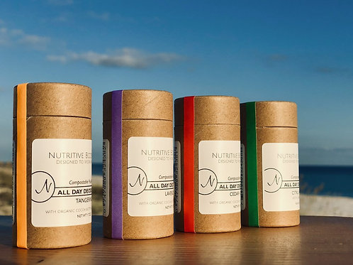 ALL DAY DEODORANT w/Baking Soda - Compostable PushTube