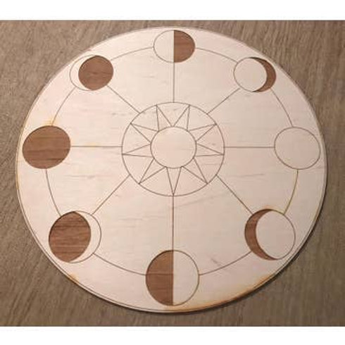 Moon Phase Crystal Grid - 4 inches