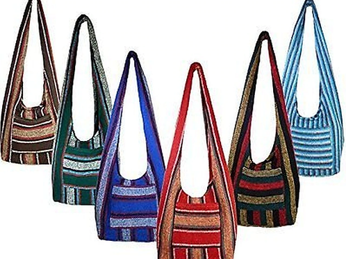 Hippie Bag Cross-Body Baja Sling Bag Tote Classic Baja Jacket Fabric Material