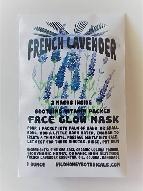 French Lavender Glow Mask Salt Face Glow / Scrub