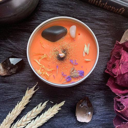 Samhain Crystal Candle (Halloween Special Edition)