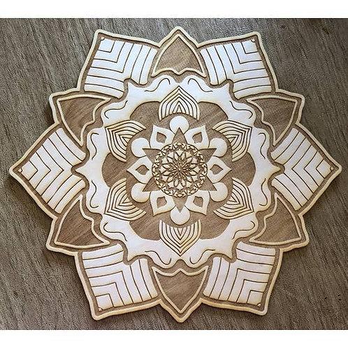 Mandala Crystal Grid - 4 inches