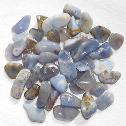 Tumbled Blue Chalcedony Gemstones