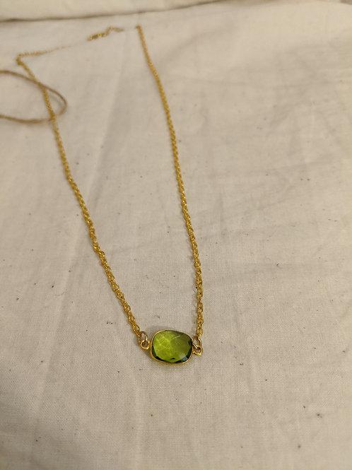 Peridot Dainty Necklace