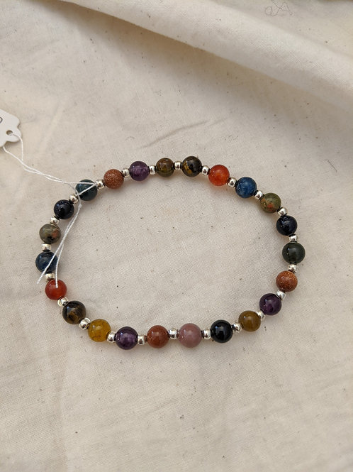 Assorted Crystals Beaded Bracelet