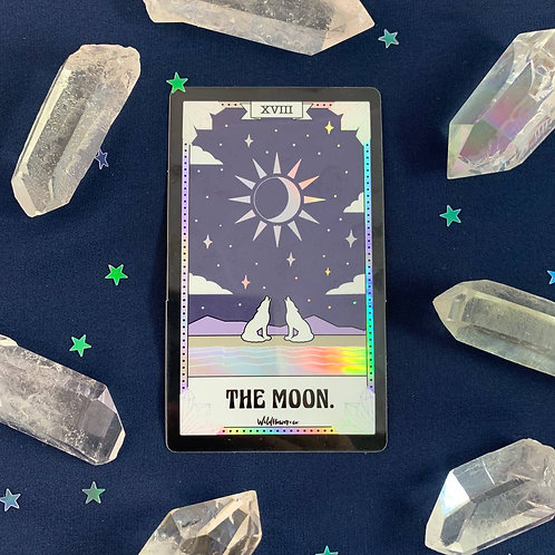 Tarot Card Sticker - Justice, Strength, Moon, Sun