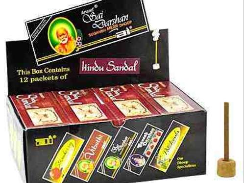 """Sai Darshan Hindu Sandal Dhoop 16 Sticks - 3""""L"""
