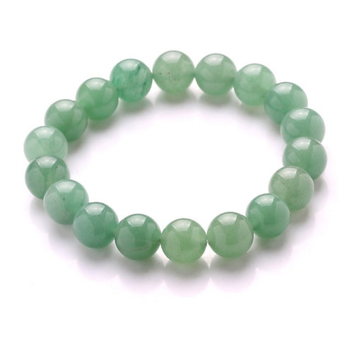 Green Aventurine Beaded Stretch Bracelet