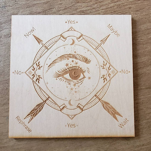 Wood Engraved Pendulum Board - 4 inches