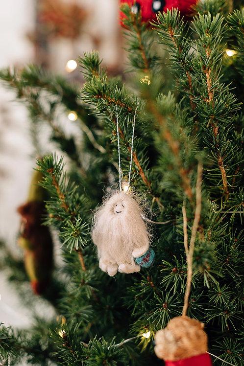 Yeti Baby Ornament