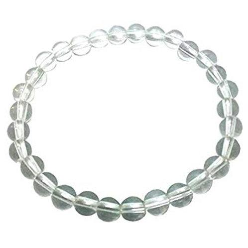 Clear Quartz Beaded Stretch Bracelet