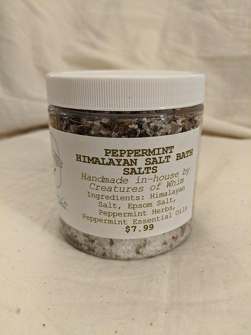 Peppermint Himalayan Salt Bath Salts 8 oz jar