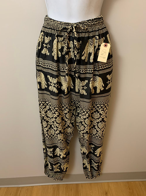 Elephant Printed Hippie Harem Pants