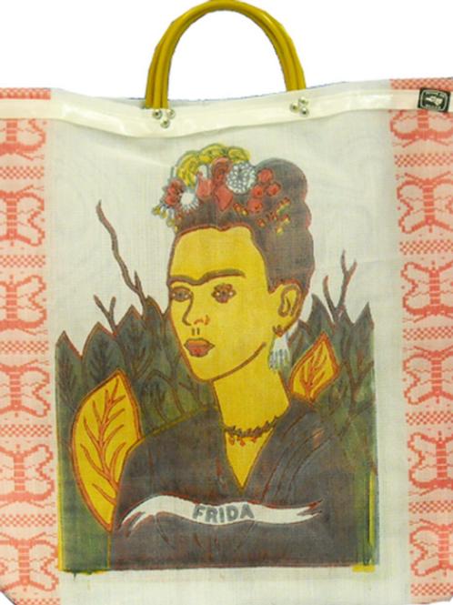 Frida Kahlo Recycled Large Tote Bag Mexico Mesh Printed